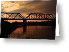 Trestle Sunset 3 Greeting Card