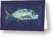 Gyotaku Trevally Greeting Card