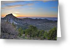 Trevenque Mountain At Sunset  2079 M Greeting Card