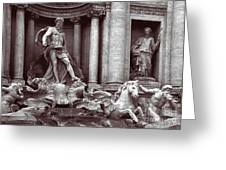 Trevi Fountain Detail Greeting Card