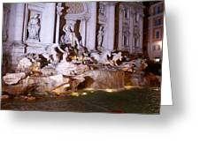 Trevi Fountain Evening Greeting Card