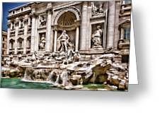 Trevi Fountain In Rome Italy Greeting Card