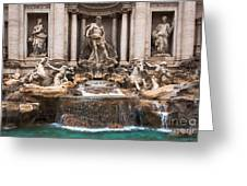 Trevi Fountain Greeting Card by John Wadleigh