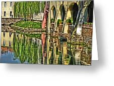 Treviso Canal And Reflections Greeting Card