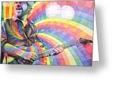 Trey Anastasio Rainbow Greeting Card by Joshua Morton
