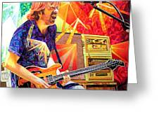 Trey Anastasio Squared Greeting Card