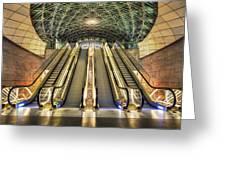 Triangeln Station Escalators Greeting Card