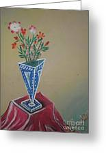 Triangle Flower Pot Greeting Card