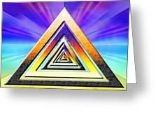 Triangle Pathway Greeting Card