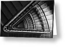Triangle Staircaise In Bw Greeting Card