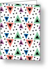 Triangular Dance Repeat Print Greeting Card