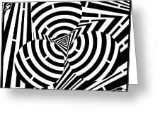 Triangular Spheres Maze Greeting Card