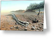 Triassic-jurassic Extinction Greeting Card