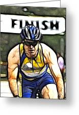 Triathalon Competitor Greeting Card