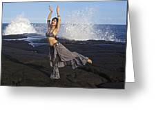 Tribal Belly Dancer Greeting Card