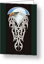 Tribal Eagle Greeting Card