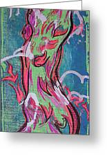 Tribal Figure Collaborated Greeting Card