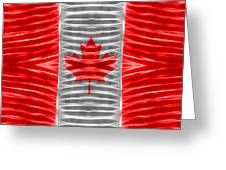 Triband Flags - Canada Greeting Card