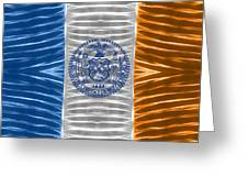 Triband Flags - New York City Greeting Card