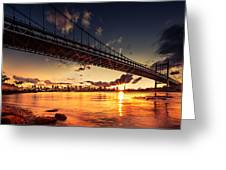 Triboro Sunset Greeting Card