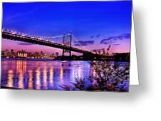 Triborough Bridge At Night Greeting Card