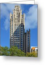 Tribune Tower Chicago - History Is Part Of The Building Greeting Card