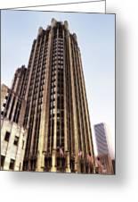 Tribune Tower Facade Greeting Card