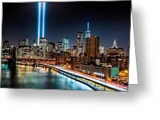 Tribute In Light Memorial Greeting Card