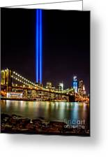 Tribute Lights From Brooklyn Greeting Card