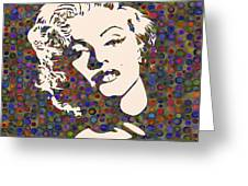 Tribute To Marilyn Monroe Greeting Card