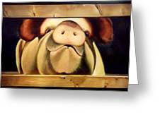 Tricia The Pig Greeting Card