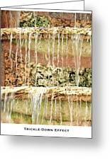 Trickle-down Effect Greeting Card by Lorenzo Laiken