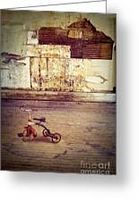 Tricycle In Abandoned Room Greeting Card