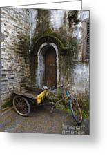 Tricycle Parked In Alleyway Greeting Card