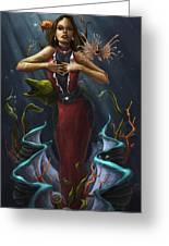 Tridacna - Red Greeting Card