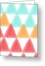 Trifold- Colorful Abstract Pattern Painting Greeting Card