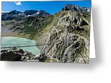 Triftsee Suspension Bridge - Gadmen - Switzerland Greeting Card