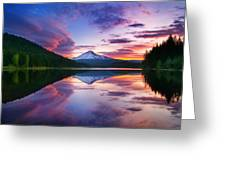 Trillium Lake Sunrise Greeting Card