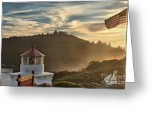Trinidad Beach Lighthouse Greeting Card by Adam Jewell