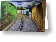Trinidad Cuba Original Oil Painting 16x12in Greeting Card