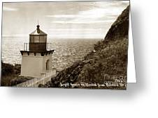 Trinidad Head Light Humboldt County California 1910 Greeting Card