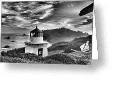 Trinidad Light In Black And White Greeting Card by Adam Jewell