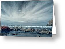 Trinidad State Beach In Infrared Greeting Card