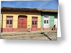 Trinidad Streets Cuba Greeting Card