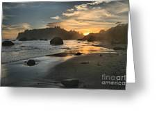 Trinidad Sunset Reflections Greeting Card