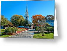 Trinity Church In Queen Anne Square In Newport Greeting Card