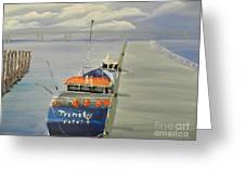 Trinity Long Line Fishing Trawler At San Remo  Greeting Card