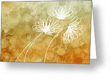 Trio Abstract Flower Art  Greeting Card
