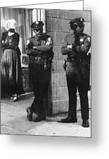 Trio Of Arm Crossers San Francisco California 1972 Greeting Card