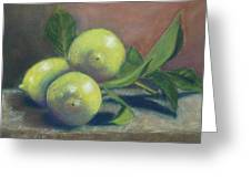 Trio Of Lemons Greeting Card